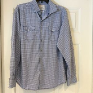 Tommy Bahama Island Crafted Cotton Checked Shirt